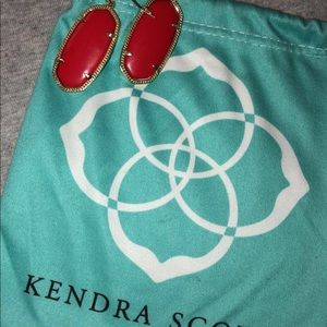 Kendra Scott Red Earrings